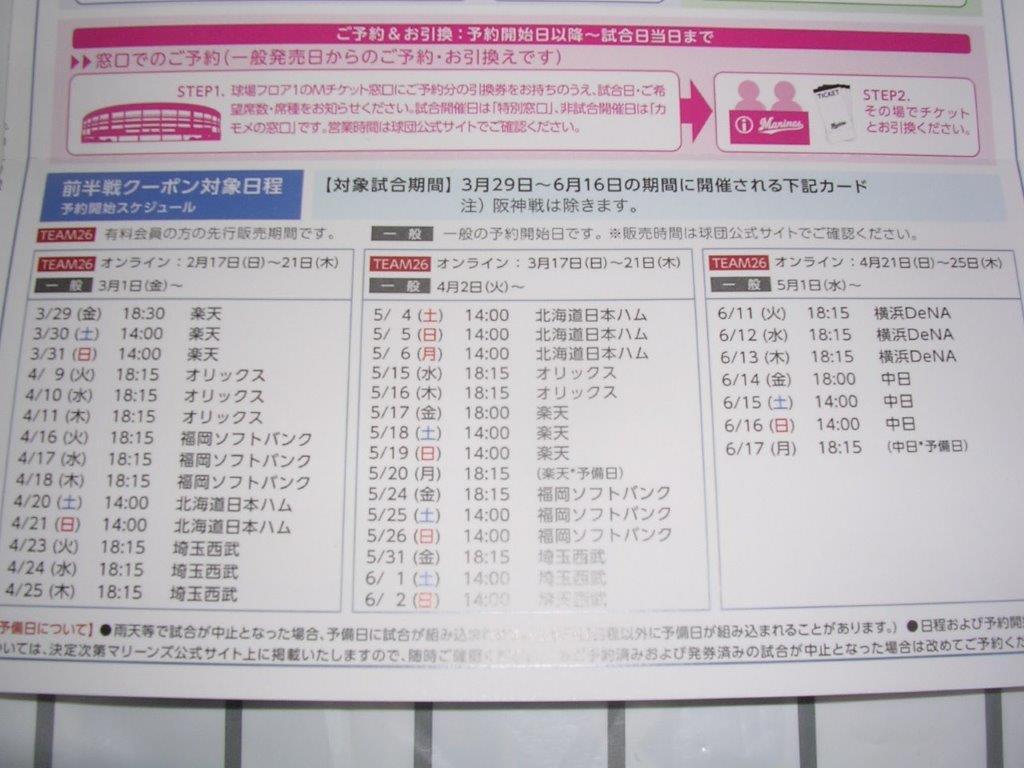 5/4(土)5(日)6(祝)14時 ロッテ対日本ハム ZOZOマリンスタジアムの画像