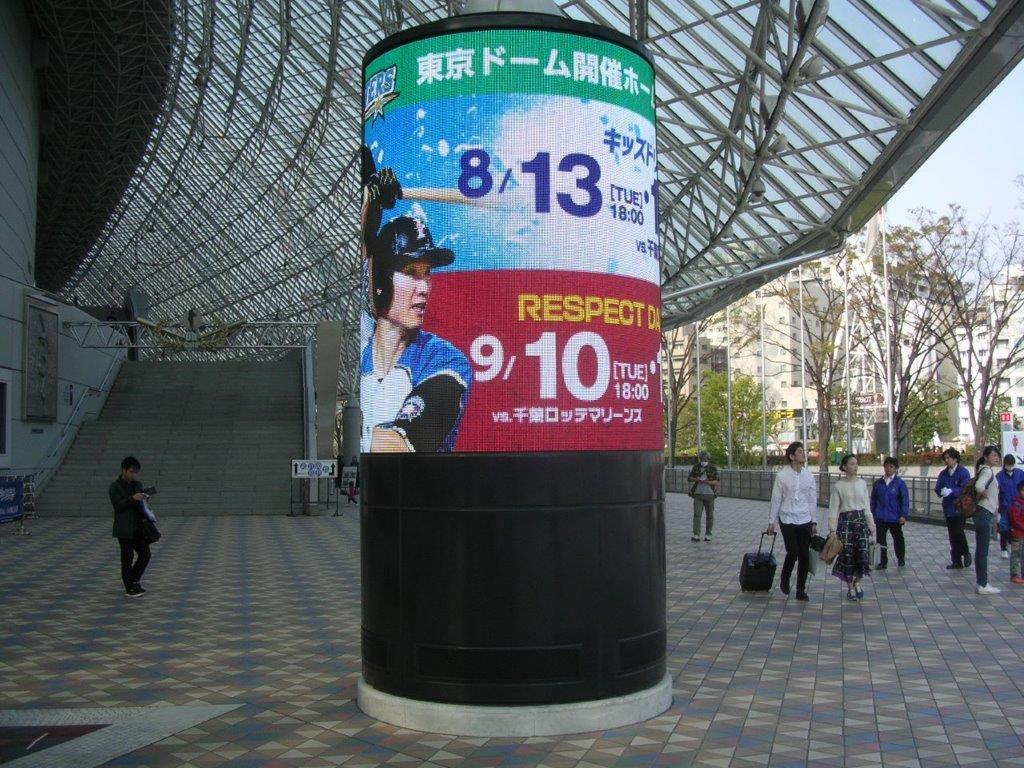8/13(火)18時 日本ハム対ロッテ 東京ドーム 2019年の画像